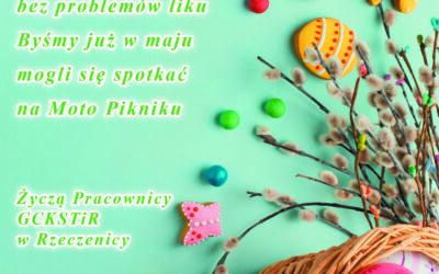 Życzenia z okazji Świąt Wielkanocnych od pracowników GCKSTiR Rzeczenica